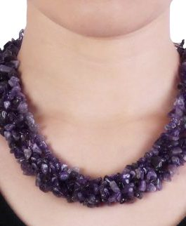 aminata amethyst stone earrings and necklace set