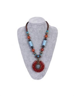 Aminata Fashion handmade necklace mix stone