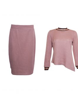 Knitted long sleeve tops with skirt