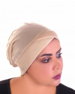 Women's turban solid color cross front