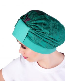 Lace turban with Cotton Jersey