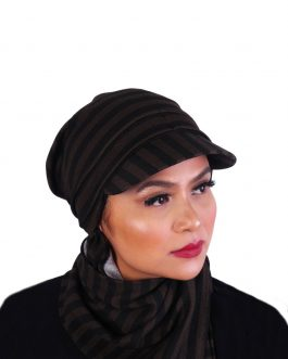 Af women's ready to wear turban cap with shawl