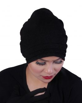 Women's easy to wear turban hat 3 layer front