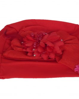 Women's ribbon/flower with feather turban hat