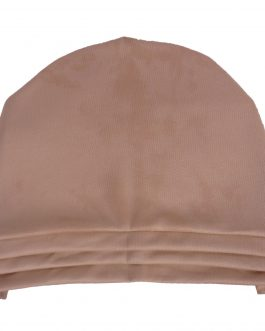 women's solid satin color turban with shawl