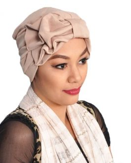 Af Casual womens turban hat with ribbon