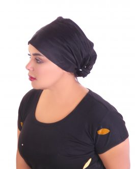 Closed back with elastic turban hat
